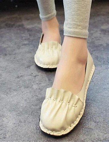 PDX/ Damenschuhe-Ballerinas-Outddor / Lässig-Kunstleder-Flacher Absatz-Komfort-Schwarz / Weiß black-us8 / eu39 / uk6 / cn39