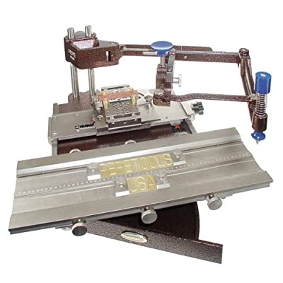 Pepe Deluxe Flat Engraving Machine with Set of Double Line Font