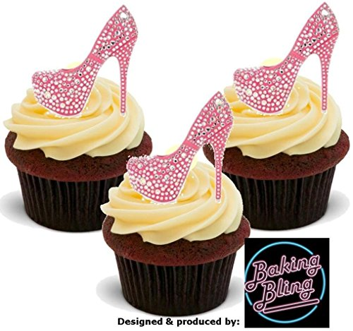 12 x Bling Diamante Pink Shoes - Fun Novelty Birthday PREMIU
