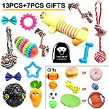 SZKOKUHO Puppy Dog Toys Set Dog Accessories—Plush Toys,Dog Ropes,Squeaky Toys,Chew Toys,Dog Balls,Dog Bone