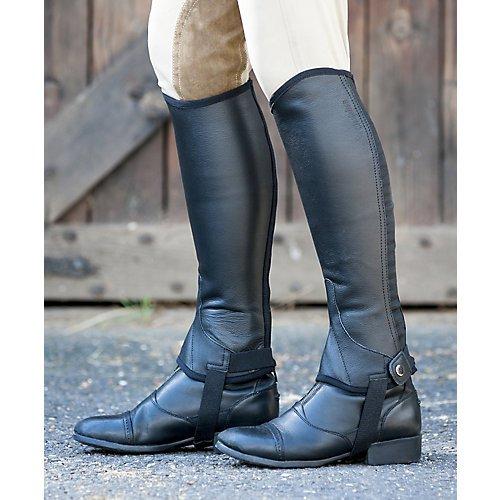 Dublin Flexi Leather II Half Chaps X-Large Black (Leather Chaps Schooling)