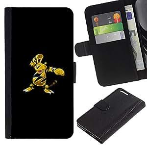 All Phone Most Case / Oferta Especial Cáscara Funda de cuero Monedero Cubierta de proteccion Caso / Wallet Case for Apple Iphone 6 PLUS 5.5 // Poke Monster Yellow Bee