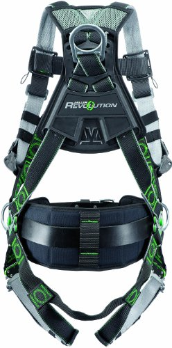 Miller Revolution Full Body Safety Harness with Suspension Loop & Quick Connectors, Size 2X & 3X, 400 lb. Capacity (Full Body Harness)