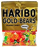 Kyпить Haribo Gummi Candy, Original Gold-Bears, 5-Ounce Bags (Pack of 12) на Amazon.com