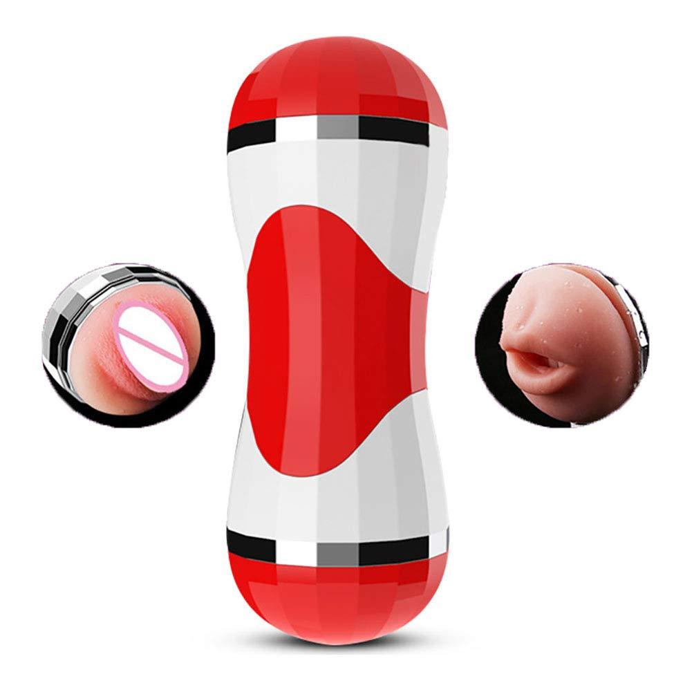 FJW Taza Masculina Oral del Masturbador Vagina Realista 3D Sexo Oral Masculina Chupando Juguetes Sexuales Inducción Inteligente Gemidos Sexuales De Chicas USB Recargable Vacío Masturbador De Taza Eléctrico,Red 47d2f7