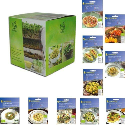 mgc24 Keimbar und 1 Packung Kiepenkerl Alfalfa Bio-Sprossen