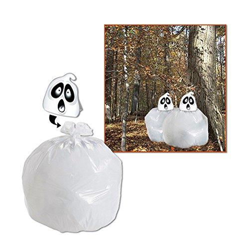 [Beistle Spooky Spirit Leaf Bag, 35-Inch by 27-Inch] (Bag Of Trash Costume)
