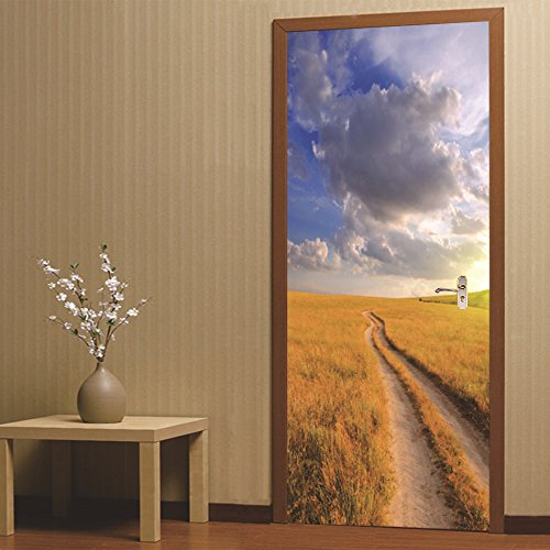 LWCX Prairie Creative Door Adheres To The Self Sticker Of The Bedroom Sticker by LWCX