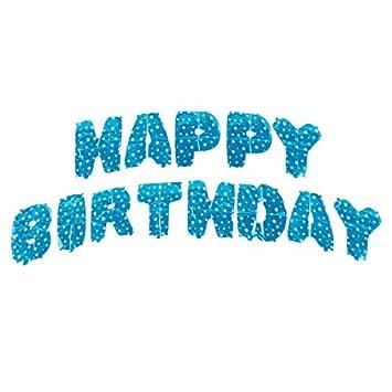 Delidge 16quot Happy Birthday Alphabet Letter Balloons Banners Aluminum Hanging Foil Film Balloon Mylar