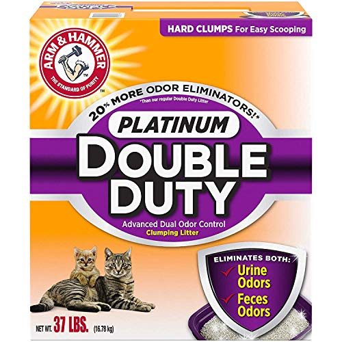 Arm & Hammer Platinum Double Duty Clumping Cat Litter, 37lb (2 Pack)