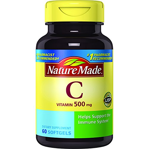 Nature Made Vitamin C 500mg, 60 Softgels (Pack of ()