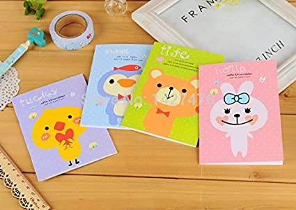 Amazon.com : New Cute Animal Cartoon Notebook Diary Planner ...