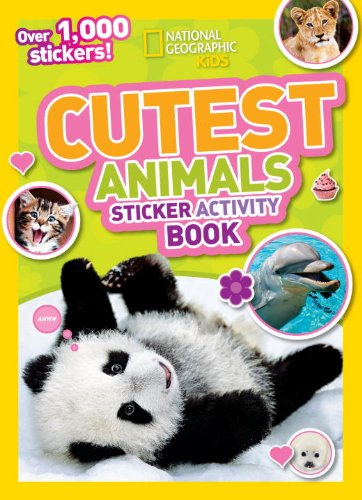 National Geographic Kids Cutest Animals Sticker Activity Boo
