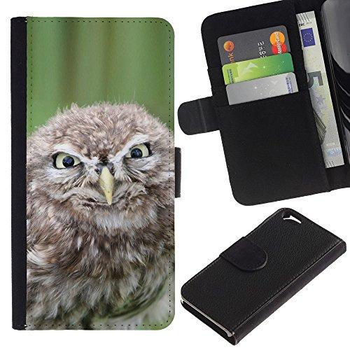 EuroCase - Apple Iphone 6 4.7 - Funny Evil Owl - Cuir PU Coverture Shell Armure Coque Coq Cas Etui Housse Case Cover
