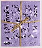 Skoy cloth, Mixed colors w/ text (4-pk)