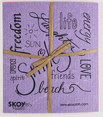 Skoy cloth, Mixed colors w/ text (4-pk)