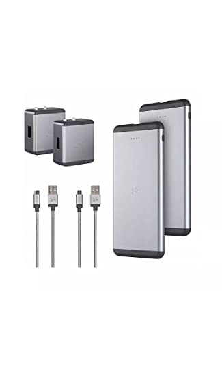 Portable Charger, Ubio Labs Slim 6,000 mAh High Capacity Power Bank with 2.4A Output, External Battery Pack for iPhone, Samsung, LG, Motorola and More