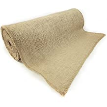 "12"" NO-FRAY NO-MESS Burlap Fabric Roll ~ 12"" Wide x 10 Yards Long Table Runner with FINISHED Edges. Perfect for Weddings, Placemat, & Crafts. Decorate Without the Mess!"