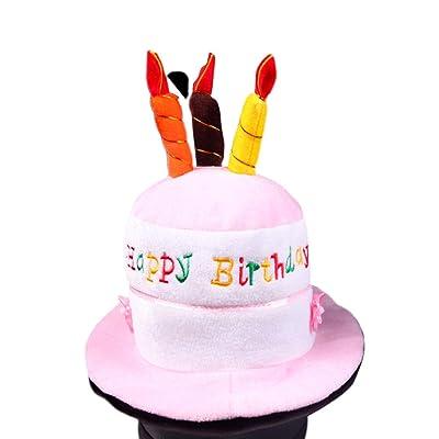 Amyove Happy Birthday Cake Novedad Sombrero: Juguetes y juegos