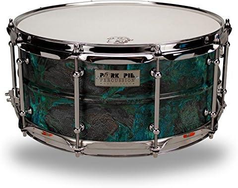 Pork Pie Latón Patina Snare Drum 14 x 6,5 en.: Amazon.es: Instrumentos musicales