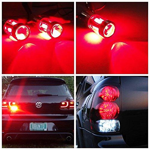 RunQiao/® 2 x 567 pr21//5 W Bay15D Pera Samsung LED Luz trasera freno Luz Rojo