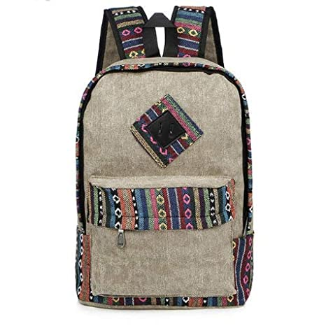 84a650eb3924 Amazon.com : LFF.FF Backpack, Ethnic Style Backpack - Anti-Theft ...
