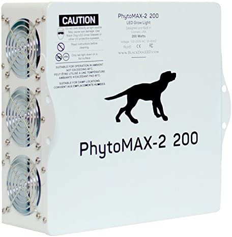 Black Dog LED PhytoMAX-2 200 LED Grow Lights High Yield Full Spectrum Indoor Grow Light with Bonus Quick Start Guide
