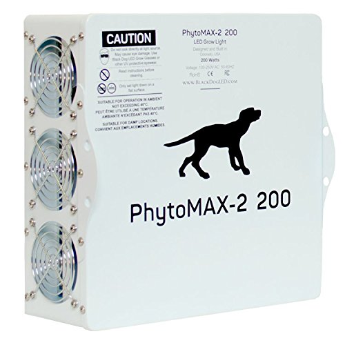 LED Grow Lights | Black Dog LED PhytoMAX-2 200 | High Yield Full Spectrum Indoor Grow Light with Bonus Quick Start Guide