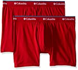 Columbia Men's 2-Pack Cotton Stretch Boxer Brief, Barbados Red/Ro, Large