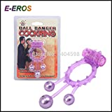 FANGMING 5pcs/lot Swinging Ball Cock Penis Ring Sleeve for Men, Prolong Ejaculation Penis Ring Vibrating Cock Ring For Men Free shipping