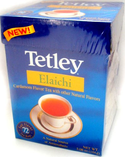 Tetley Elaichi Tea - NEW! (72 tea bags) (Loose Leaf Tetley Tea)