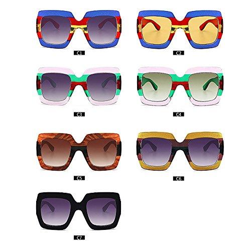 Las Personalidad Lentes de Godbb de para de la la Verano Proteccion Tonos de de Playa Las Vacaciones Conducir protección Irregulares polígono Moda Ojos para del la del de Sol Mujeres C7 Ultravioleta tqwFwxPnr