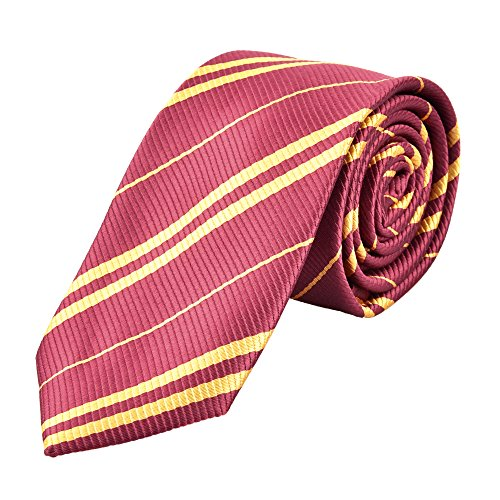 Besmon Tie for Cosplay Party Costume Tie Unisex for Halloween Party and Christmas Cosplay Party As a Gift For Daily Use (Red+Gold)