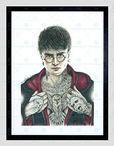 HARRY POTTER DANIEL RADCLIFFE INKED IKON FRAMED ART PRINT BY W.MAGUIRE F97X12448