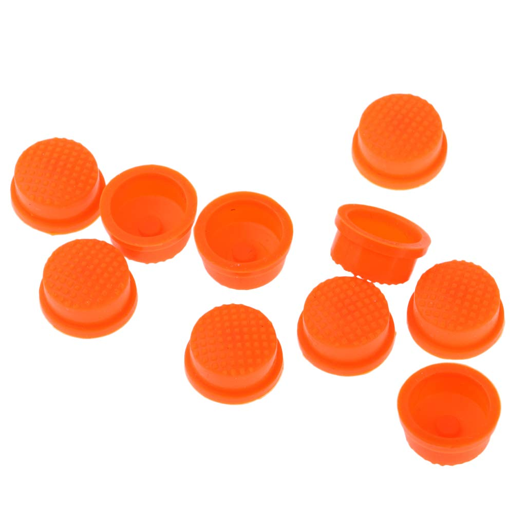 Baosity 10pcs LED Flashlight Torch Light Tail Switch Button Cover Cap - Orange