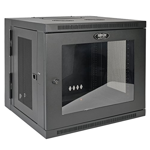 (Tripp Lite 10U Wall Mount Rack Enclosure Server Cabinet with Acrylic Glass Window, Hinged, 20.5