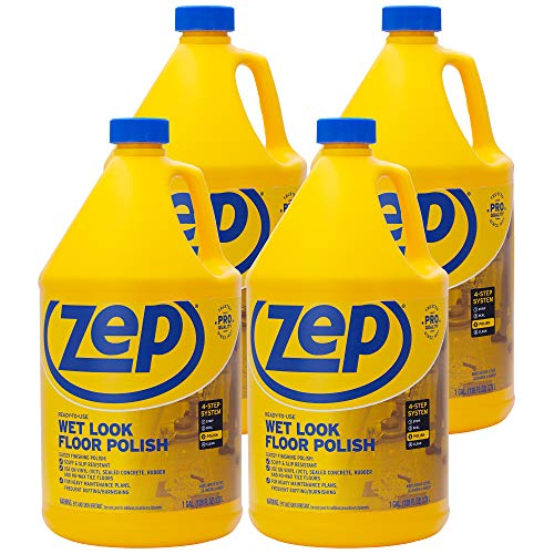 Zep Wet-Look Floor Polish 128 ounces ZUWLFF128 (Case of 4) ()