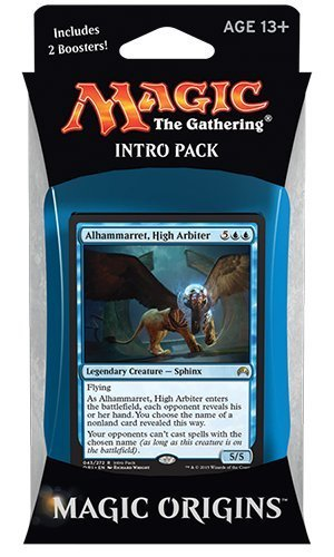 Magic the Gathering: MTG Magic Origins: Intro Pack / Theme Deck: Take to the Sky (includes 2 Booster Packs & Alternate Art Alhammarret, High Arbiter Premium Rare Promo Card) Blue