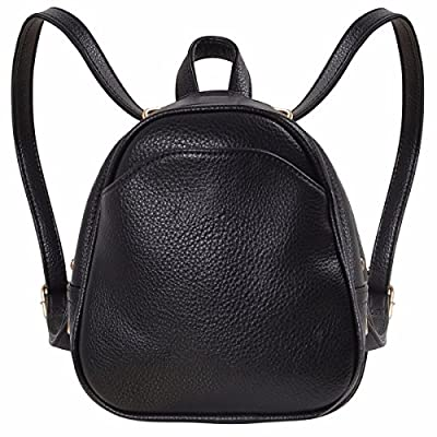 Humble Chic Mini Vegan Leather Backpack - Convertible Shoulder Purse Handbag Tiny Crossbody Bag