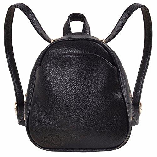 58258f7bcf Humble Chic Mini Vegan Leather Backpack - Convertible Shoulder Purse Handbag  Tiny Crossbody Bag