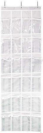 Rangement de rangement pour chaussures suspendu 24 pochettes Porte-/étag/ère porte robuste Support de rangement pour sac de rangement pour organisateur Sac pour placard /étroit Accessoires de toilette