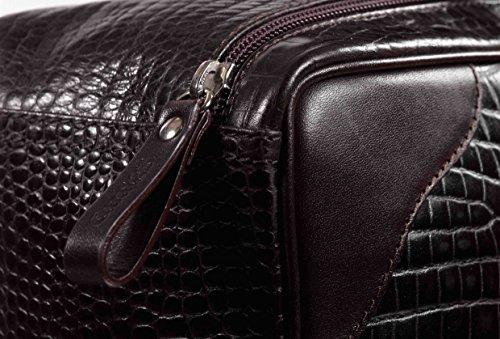 Nachhaltige Business Tasche, mit Kroko- Design. Ideal für Laptop & Business-Dokumente . Mit verstellbaren Griffe