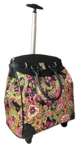 Computer/Laptop Rolling Bag 4 Wheel Case Paisley Green ()