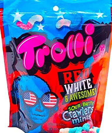 7f7105cf8de Amazon.com   NEW Trolli Sour Brite Crawlers Minis Gummy Worms 4th Of ...