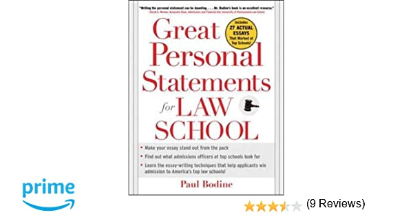 Great Personal Statements For Law School: Paul Bodine