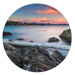 alfombrilla de ratón Sunset Beach Riviera con vistas a la Esterel - ronda - 20cm