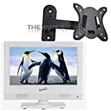 Supersonic SC-1311 White 13.3'' LED HDTV 1080p Television w/ HDMI/USB +Wall Mount