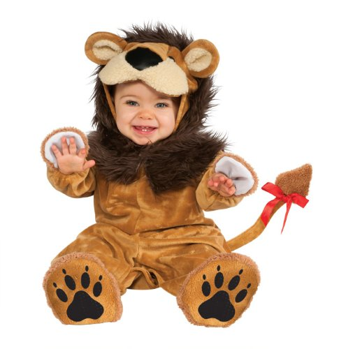 Costumes Halloween Animal Baby Cute (Rubie's Costume Cuddly Jungle Lil Lion Romper Costume, Golden, 12-18)