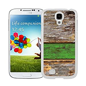 Pop Samsung Galaxy S4 Case Colorful Old Green Wood Texture Cute Soft Silicone White Phone Cover by icecream design