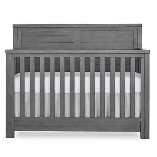 Evolur Belmar Flat 5 in 1 Convertible Crib, Rustic Grey